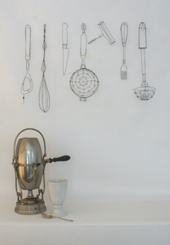 Catherine Gontier, Kitchen Utensils 7-piece, IJzerdraad, €.450,-