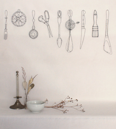 Catherine Gontier, Kitchen Utensils 9B5a, IJzerdraad, €.575,-