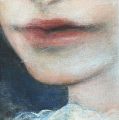 Antje Weber, Kiss of a girl, Oil on canvas , 15x15 cm, €.110,-