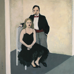 JoAnna Winik, A special occasion, oil on wood panel, 41x41 cm, €.1100,-
