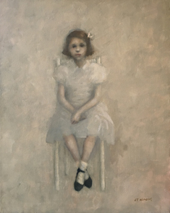 JoAnna Winik, Sitting Girl 1, Oil on canvas, 51x41 cm, €.950,-